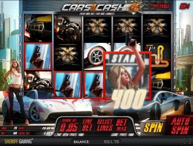 Casino Kaiser featuring the Video Slots Cars & Ca$h with a maximum payout of $200,000