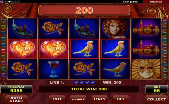 Malina featuring the Video Slots Casanova with a maximum payout of $10,000
