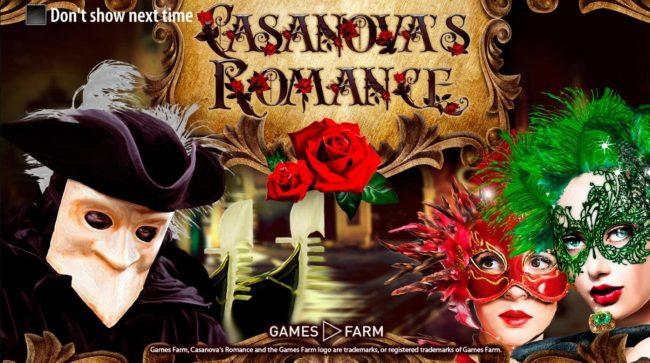 Bonanza featuring the Video Slots Casanova's Romance with a maximum payout of $10,000