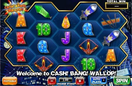 Play slots at Stan James: Stan James featuring the Video Slots Cash! Bang! Wallop! with a maximum payout of 1,000x