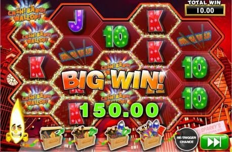 Betfair featuring the Video Slots Cash! Bang! Wallop! with a maximum payout of 1,000x