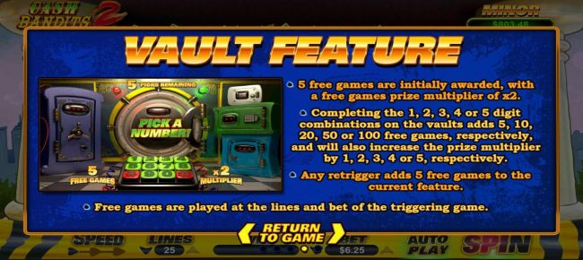 Cash Bandits 2 :: Vault Feature Rules - Continued