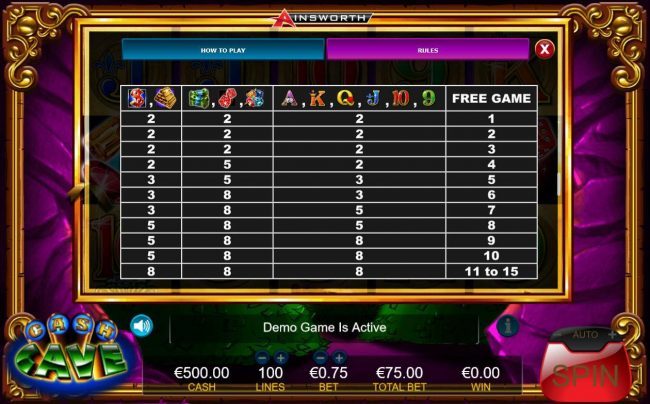 Melbet featuring the Video Slots Cash Cave with a maximum payout of $7,500