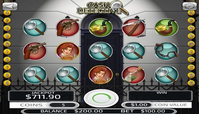 Play slots at Big Spin: Big Spin featuring the Video Slots Cash Detective with a maximum payout of $500,000