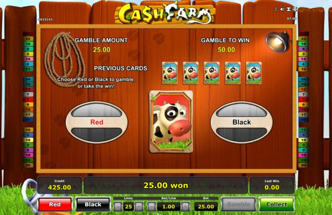 Play slots at Winner Million: Winner Million featuring the Video Slots Cash Farm with a maximum payout of $25,000