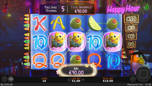 Cash Mix :: Free Spins Game Board