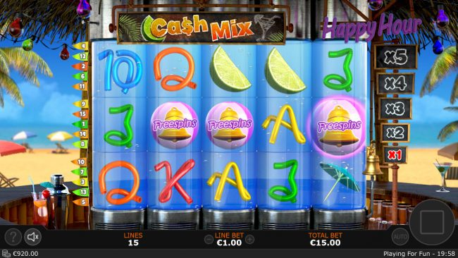 Cash Mix :: Scatter win triggers the free spins feature