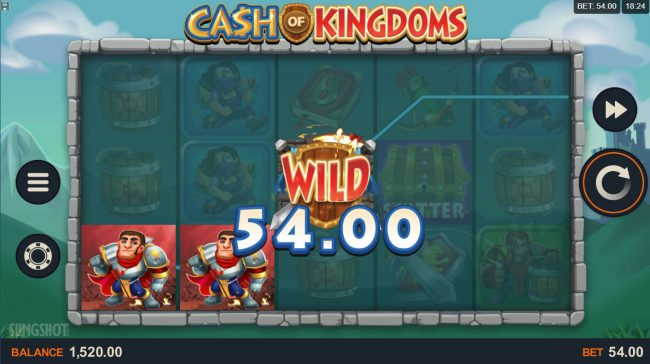 Captain Cooks featuring the Video Slots Cash of Kingdoms with a maximum payout of $100,000