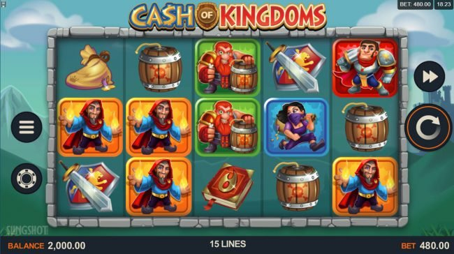 Play slots at Players Palace: Players Palace featuring the Video Slots Cash of Kingdoms with a maximum payout of $100,000