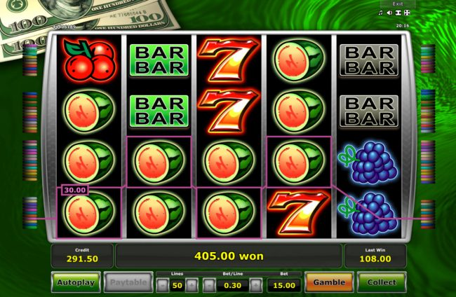 Multiple winning paylines triggers a big win