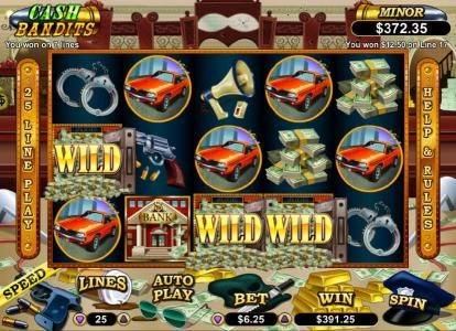 Ruby Slots featuring the Video Slots Cash Bandits with a maximum payout of $250,000