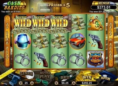 Casino Brango featuring the Video Slots Cash Bandits with a maximum payout of $250,000