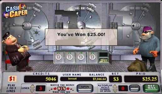 Royal House featuring the video-Slots Cash Caper with a maximum payout of 280x