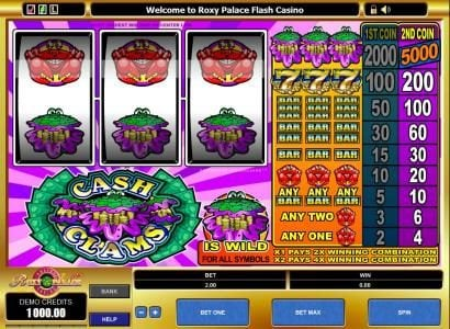 Play slots at Reel Vegas: Reel Vegas featuring the Video Slots Cash Clams with a maximum payout of $25,000