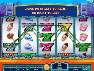 Cash Coaster :: Multiple winning paylines triggers a 120.00 big win!