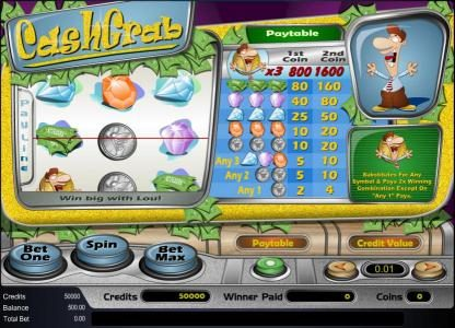 Play slots at Buran: Buran featuring the Video Slots Cash Grab with a maximum payout of $8,000