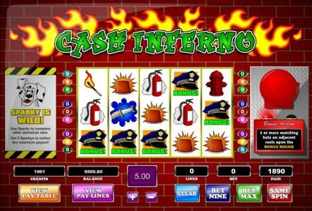 Orientxpress featuring the Video Slots Cash Inferno with a maximum payout of  $62,500