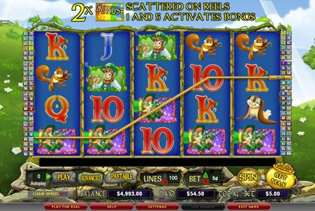 Hello featuring the Video Slots Cash n' Clovers with a maximum payout of $50,000