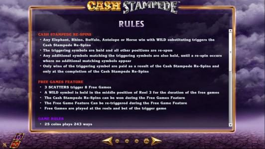 Spintropolis featuring the Video Slots Cash Stampede with a maximum payout of $20,000