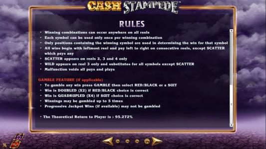 Casiplay featuring the Video Slots Cash Stampede with a maximum payout of $20,000