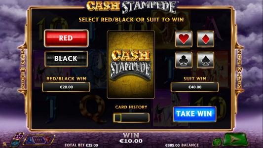 Enzo Casino featuring the Video Slots Cash Stampede with a maximum payout of $20,000