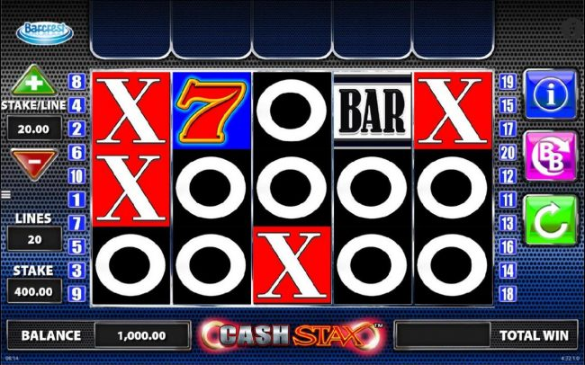 Play slots at Secret Slots: Secret Slots featuring the Video Slots Cash Stax with a maximum payout of $250,000