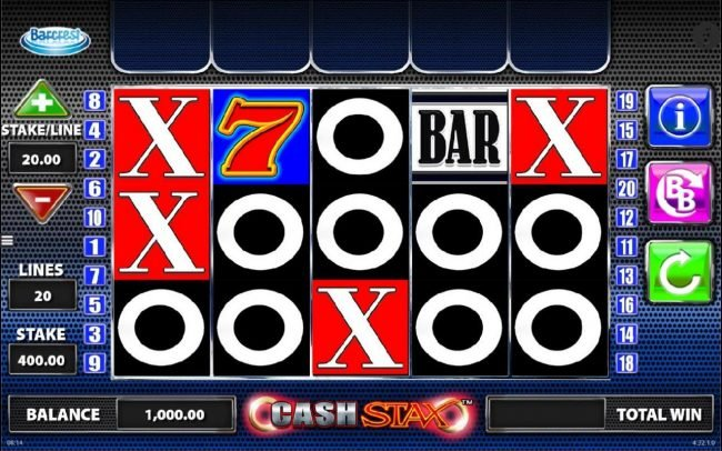 Play slots at Simba Games: Simba Games featuring the Video Slots Cash Stax with a maximum payout of $250,000