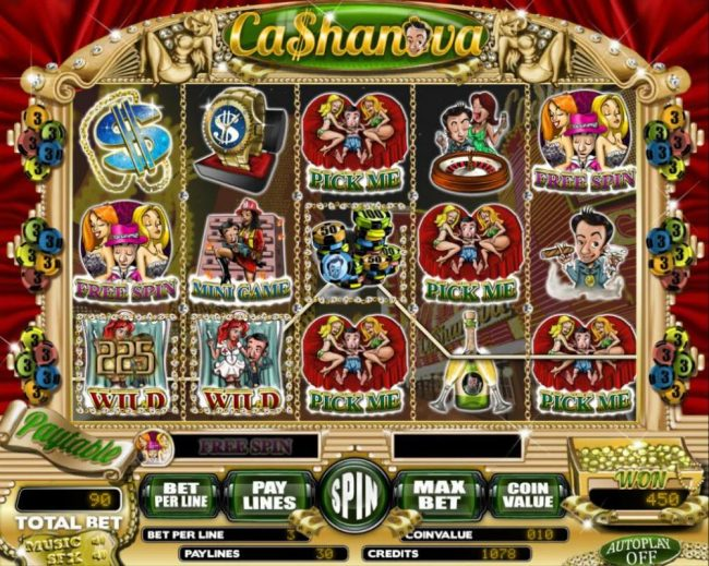Elegant VIP featuring the Video Slots Cashanova with a maximum payout of $18,000
