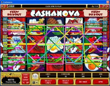 7Bit featuring the Video Slots Cashanova with a maximum payout of $375,000