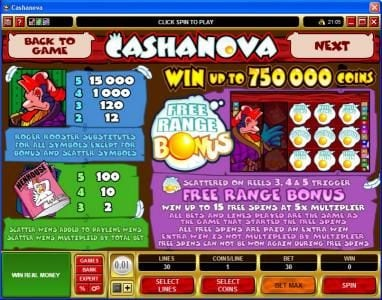 Wild Jack featuring the Video Slots Cashanova with a maximum payout of $375,000