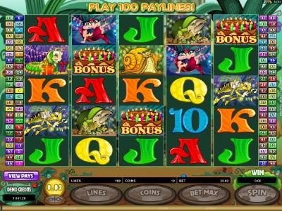 Players Palace featuring the Video Slots Cashapillar with a maximum payout of $1,200,000