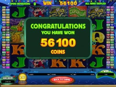 Free Spins Bonus Feature Pays Out 56,100 coins!