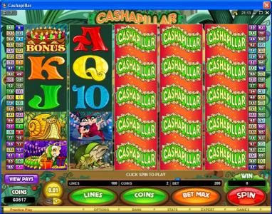 Play slots at Casino-X: Casino-X featuring the Video Slots Cashapillar with a maximum payout of $1,200,000