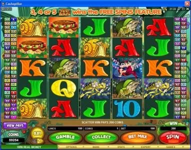 Lucky Nugget featuring the Video Slots Cashapillar with a maximum payout of $1,200,000
