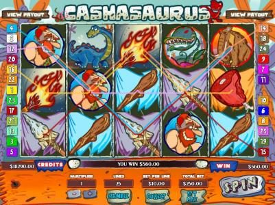 Mission 2 Game featuring the Video Slots Cashasaurus with a maximum payout of Jackpot