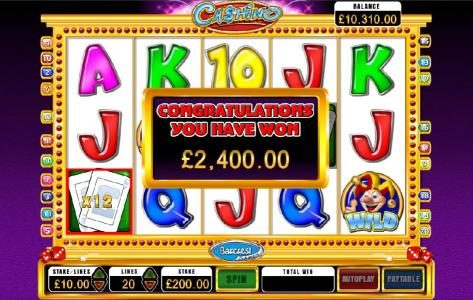 Play slots at Wicked Jackpots: Wicked Jackpots featuring the Video Slots Cashino with a maximum payout of $250,000