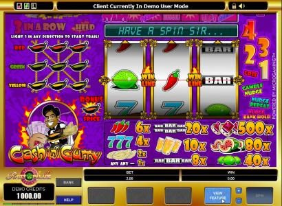 Play slots at Vegas Hero: Vegas Hero featuring the video-Slots Cash'n' Curry with a maximum payout of $5,000