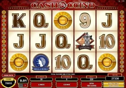 All British featuring the Video Slots CashOccino with a maximum payout of $10,000