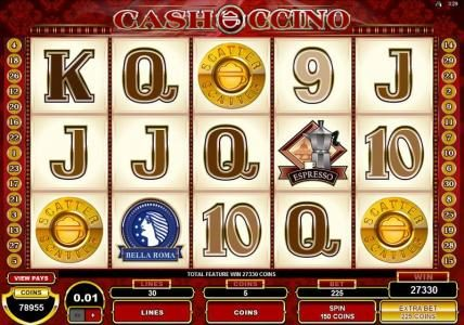 Music Hall featuring the Video Slots CashOccino with a maximum payout of $10,000