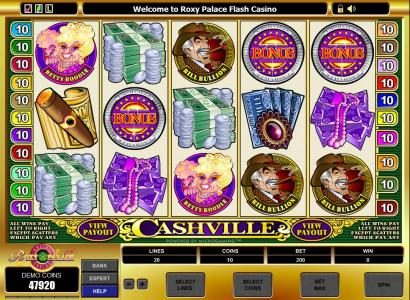 Wild Jack featuring the Video Slots Cashville with a maximum payout of $50,000