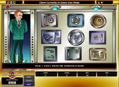 Cashville :: pick a vault to win a prize