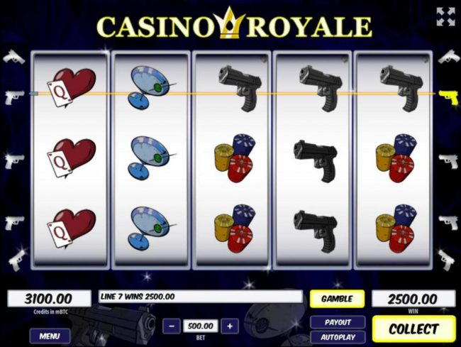 Play slots at Winner Million: Winner Million featuring the Video Slots Casino Royale with a maximum payout of $250,000