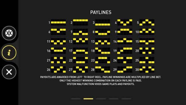Casino Royale :: Paylines 1-30