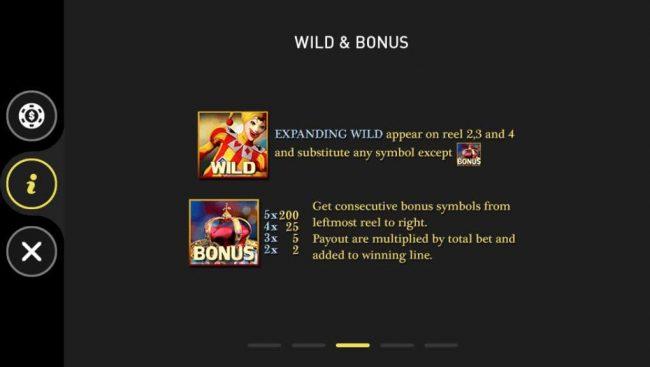 Casino Royale :: Wild and Bonus Symbols Rules and Pays