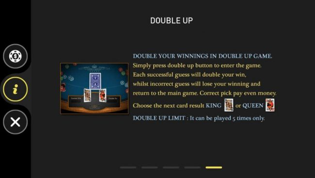 Casino Royale :: Double Up Gamble Feature Rules