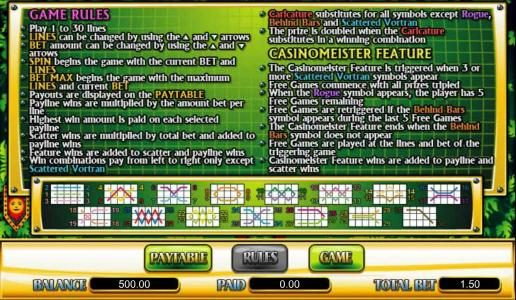 Buran featuring the Video Slots Casinomeister with a maximum payout of $200,000
