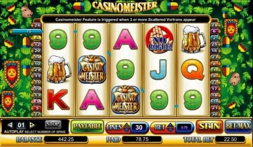 King Billy featuring the Video Slots Casinomeister with a maximum payout of $200,000