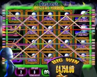Moon Games featuring the Video Slots Casper's Mystery Mirror with a maximum payout of $12,500
