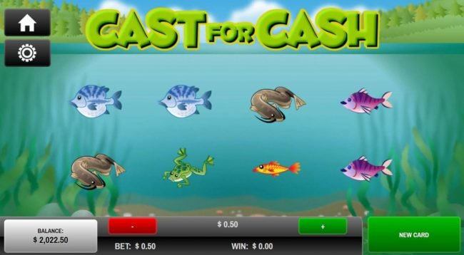 Cafe featuring the Video Slots Cast for Cash with a maximum payout of $25.00