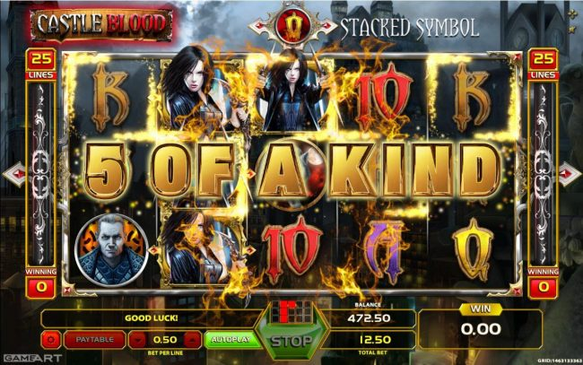 Yoyo featuring the Video Slots Castle Blood with a maximum payout of $7,500